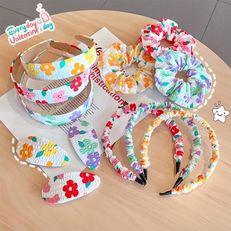 Mode Blumendruck breitkrempiges Faltstirnband NHNA343839's discount tags