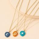 Korea moon sun alloy necklace wholesale NHAI343848