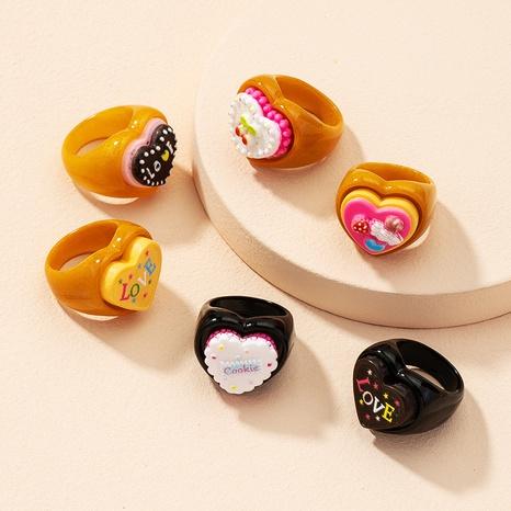 Koreanischer Buchstabe Herzkontrastfarbe Acrylring NHAI343854's discount tags