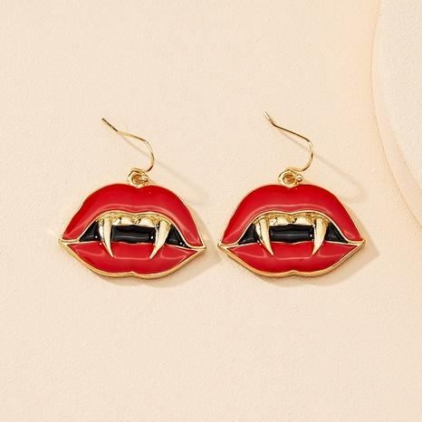 Pendientes de aleación de aceite de goteo de labios de moda al por mayor NHAI343855's discount tags