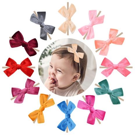Mode neuen Stil Kinder Samt Stoff Fliege Haarspange Set NHMO343869's discount tags