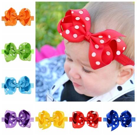 neue koreanische Stil Kinder gedruckt Punkte Bogen Stirnband Set NHMO343891's discount tags