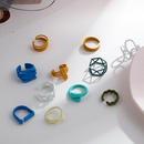 fashion solid color geometric paint opening adjustable ring  NHLL343920