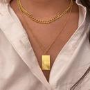 Fashion geometric stacking multilayer alloy necklace wholesale NHPJ343983