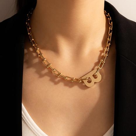 collar con letra B estilo retro de moda NHGY344038's discount tags