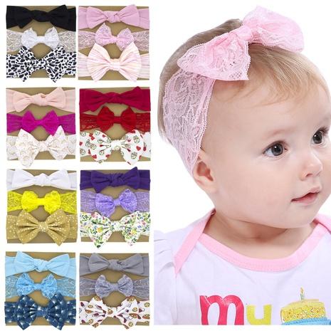 koreanische einfache Art neues Baby Bowknot Haarband dreiteiliges Set NHWO344004's discount tags