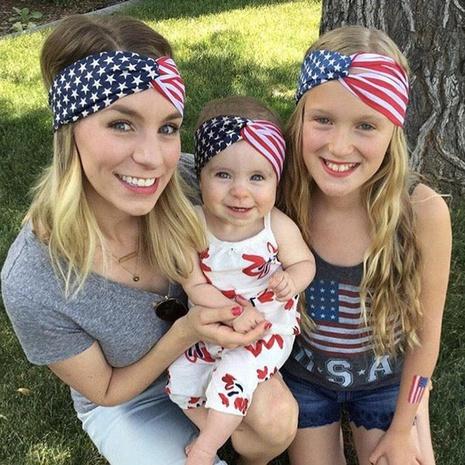 Independence Day Erwachsene Kinder neue einfache Stil Stirnband Set NHWO344006's discount tags