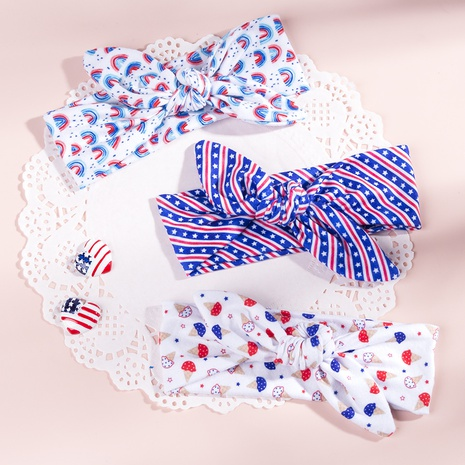 American Independence Day Kinder Elastic Print Hasenohren Stern Stirnband NHWO344009's discount tags