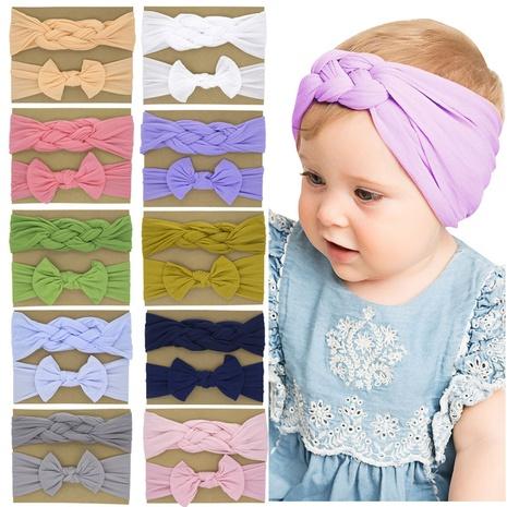 einfarbiges Haarband-Set für Kinder mit Nylonschleife NHWO344013's discount tags