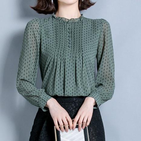 chemise à manches longues de couleur unie NHUO331357's discount tags