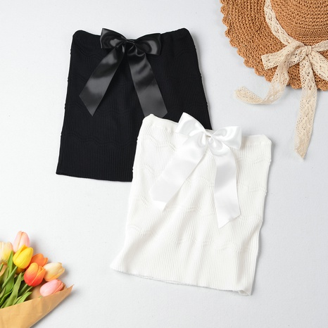 Nouveau haut tricoté simple Sweet Bow NHZN331339's discount tags