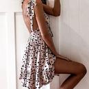 new fashion Vneck sexy sling polka dot dress NHJG331302