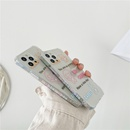 Transparent cartoon English lines bear mobile phone case NHFI344091