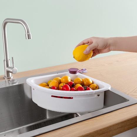 Support d'évier creux en plastique blanc pliable à la mode NHYUE344179's discount tags