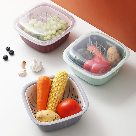 Panier de vidange à double couche de cuisine Boîte de rangement de mélange de couleurs Panier de vidange d'évier en plastique NHYUE344196's discount tags