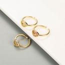 fashion lip shape microinlaid zircon ring wholesale  NHLN344218