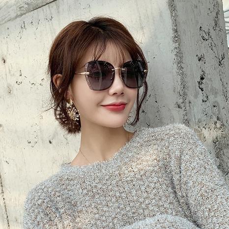 Nouvelles lunettes de soleil sans cadre polarisées NHLMO344401's discount tags