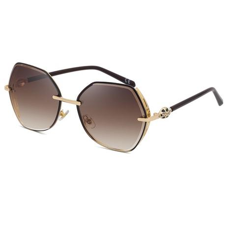 nouvelles lunettes de soleil à bordure irrégulière de style simple de mode NHLMO344418's discount tags