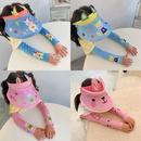Childrens cartoon sun hat floral sleeve set NHCM344597