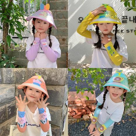 Dessin animé impression chapeau de protection solaire pour enfants manches en soie glacée costume de parasol de voyage en plein air NHCM344598's discount tags