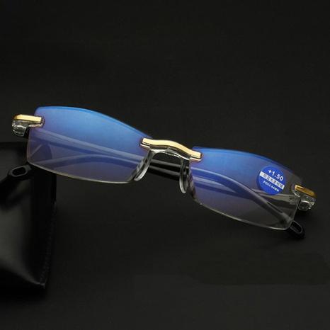 Diamond Edge Anti-Blue-ray Glasses Lunettes de lecture intelligentes sans cadre à la mode NHBA344625's discount tags