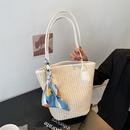simple silk handle large capacity straw woven bag  NHJZ344637