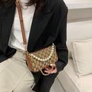 wholesale fashion pearl handel metal chain small square bag  NHJZ344664