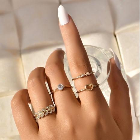 Mode Liebe Blatt Brief Ring Set NHAJ331186's discount tags