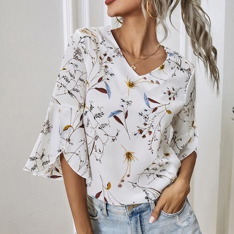 chemise imprimée mode estivale NHZN331163's discount tags