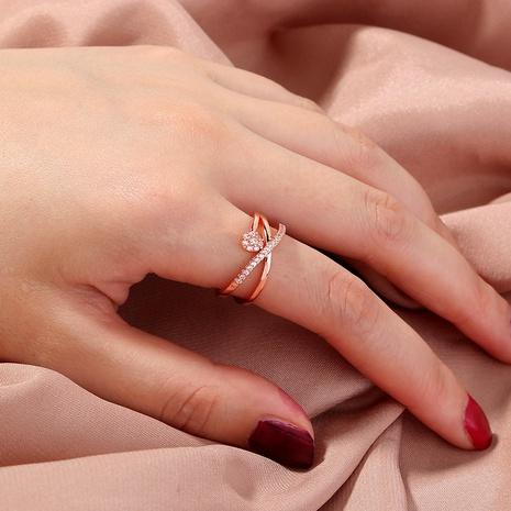simple cross flower diamond ring NHAN331257's discount tags