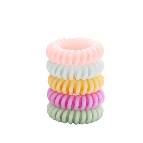 simple cuerda de pelo de cable de teléfono de macaron transparente NHPJ331432's discount tags