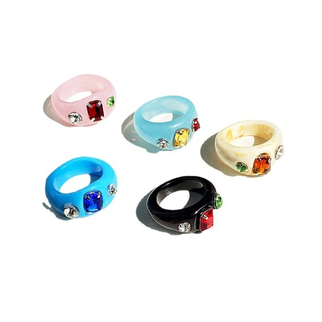 retro diamond jelly color resin ring NHPJ331435's discount tags