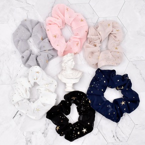 fashion small star net yarn hair scrunchies NHCL331480