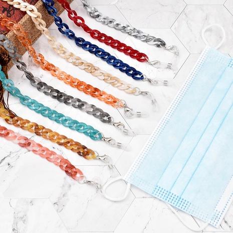 Nueva cadena de gafas acrílicas de moda NHCL331485's discount tags