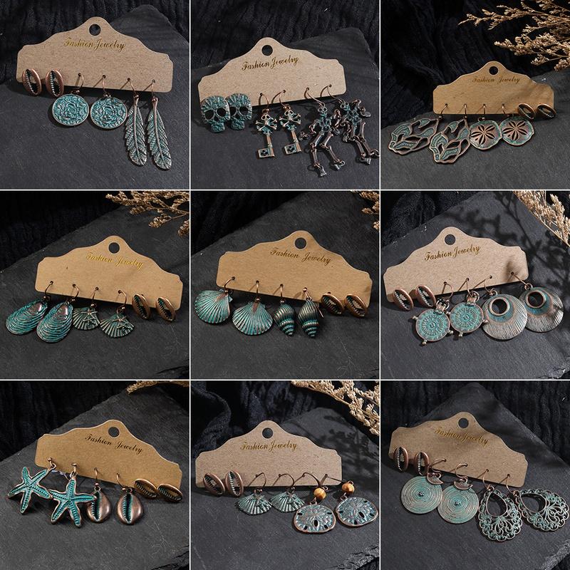 bohemian 3piece tassel earring set NHAKJ331515