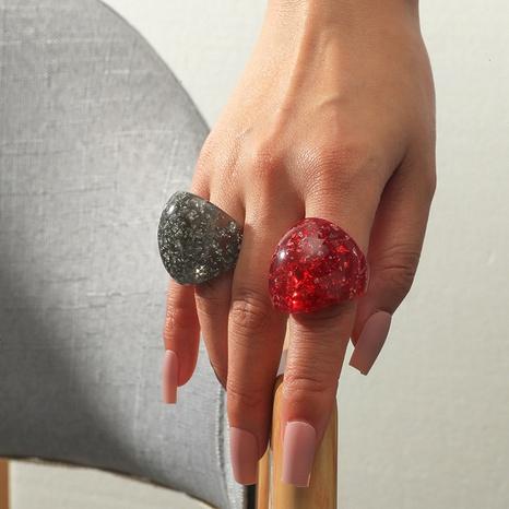 Anillo de acrílico de 2 piezas de moda al por mayor NHKQ331533's discount tags