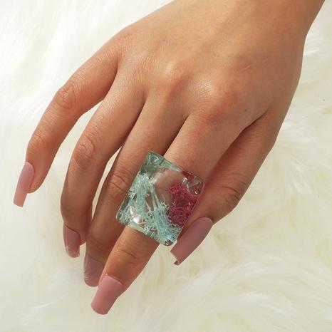 anillo de resina epoxi transparente de moda NHKQ331536's discount tags