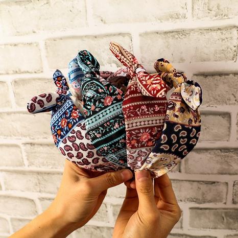 Bohemian retro floral headband  NHCL331544's discount tags