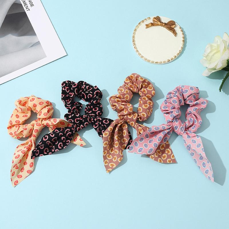 retro floral bow hair scrunchies NHCL331560