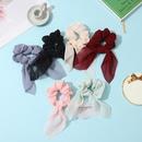 fashion mesh yarn solid color hair scrunchies NHCL331561