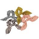 retro leopard zebra printing streamer hair scrunchies NHCL331562