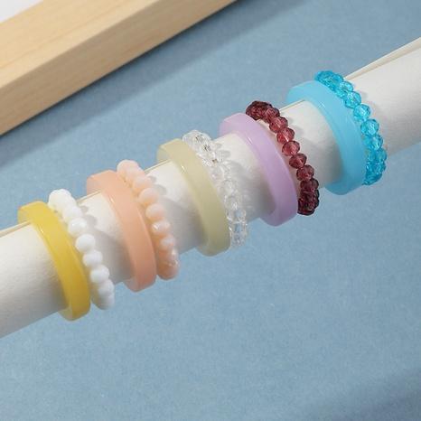 conjunto de anillos de resina con cuentas retro NHNZ331568's discount tags