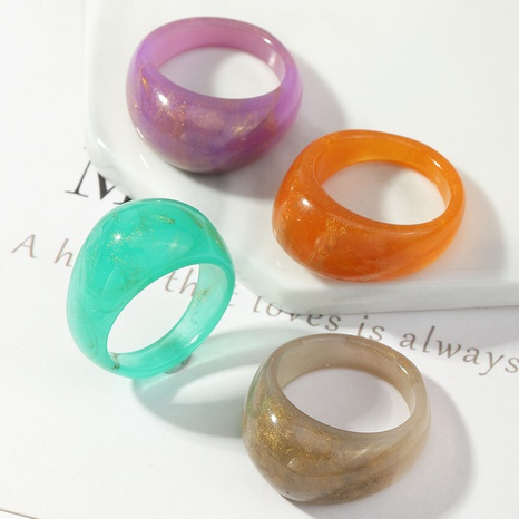 retro color resin ring  NHNZ331574's discount tags