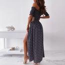 vestido dividido sexy fuera del hombro con estampado de moda NHKO332109