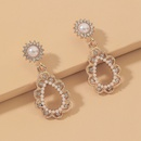 baroque pearl water drop earrings  NHNJ331700