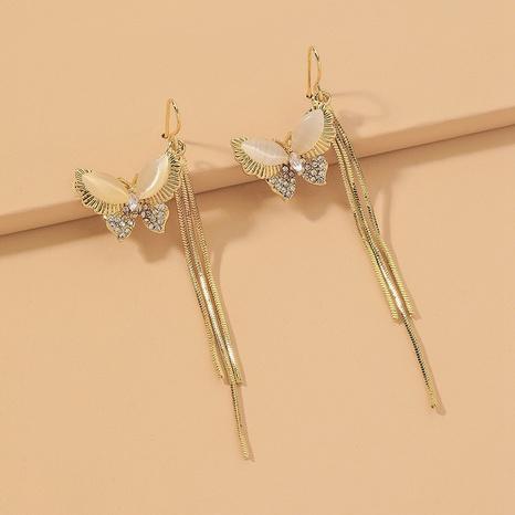 Mode Schmetterling Opal lange Quaste Ohrringe NHNJ331706's discount tags