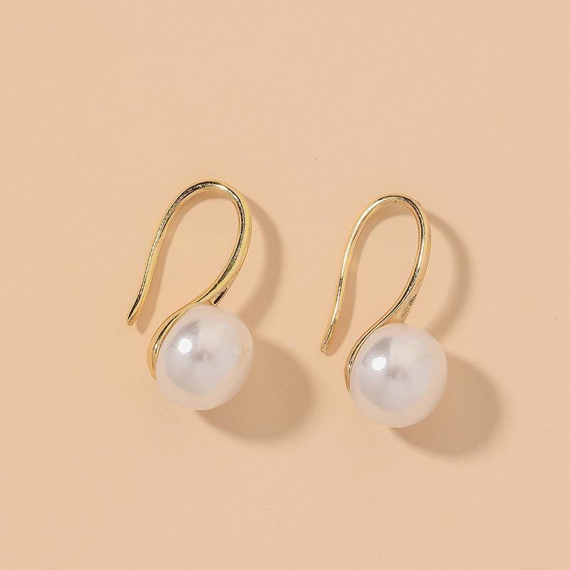 retro small pearl earrings  NHNJ331735