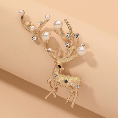 broche de cerf en strass perle de mode NHNJ331771's discount tags