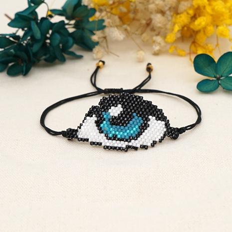 Mode blaue Augen Miyuki Perlen Armband NHGW331819's discount tags