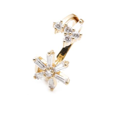 anneau de flocon de neige zircon blanc incrusté de cuivre à la mode NHYL331828's discount tags